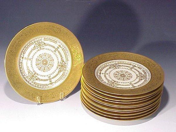 14: Set of Ten Royal Bavarian Service Plates