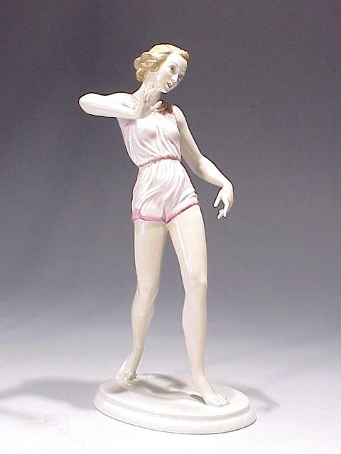 19: Rosenthal Figure of Woman in Swimsuit