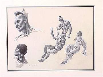 158: Thomas Hart Benton (1889-1975) Mural Stu