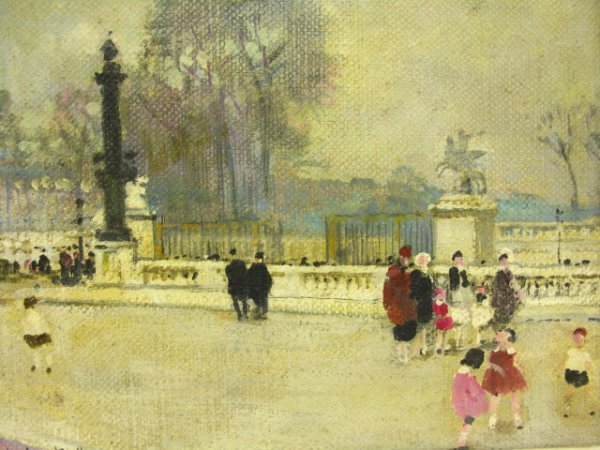 JULES R HERVE (1887-1981) PAINTING, PARIS WINTER