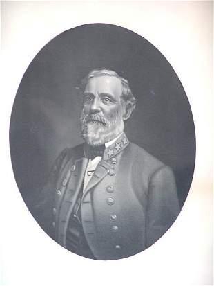 ROBERT E. LEE STEEL ENGRAVING CIRCA 1880'S