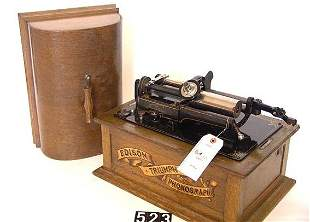 EDISON TRIUMPH CYLINDER PHONOGRAPH WITH MODEL C RE