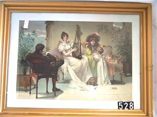 """""""1892 VICTORIAN CHROMOLITHOGRAPH TITLED """"""""SONGS OF"""