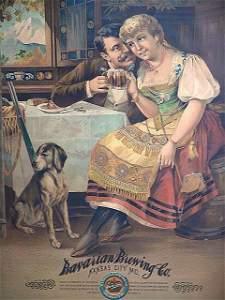 570:1890'S BREWERY ADVERTISING POSTER, KANSAS CITY