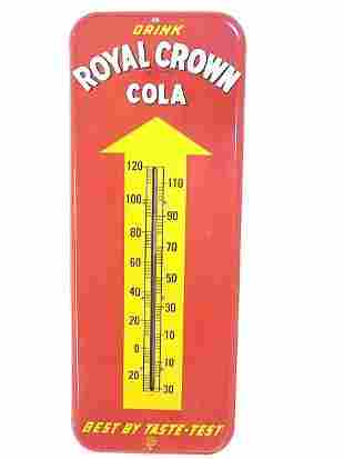 1940'S ROYAL CROWN COLA ADVERTISING THERMOMETER