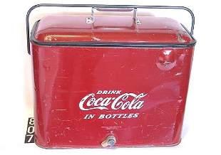 1950'S COCA-COLA PICNIC COOLER