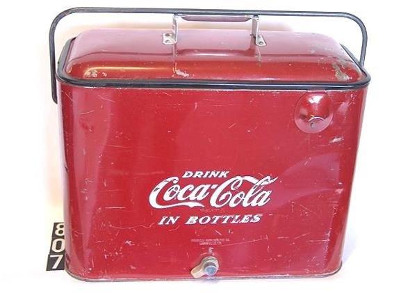 807: 1950'S COCA-COLA PICNIC COOLER
