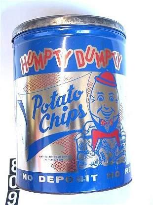 1960'S HUMPTY-DUMPTY LARGE POTATO CHIP TIN