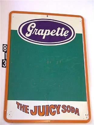 GRAPETTE CHALKBOARD SIGN