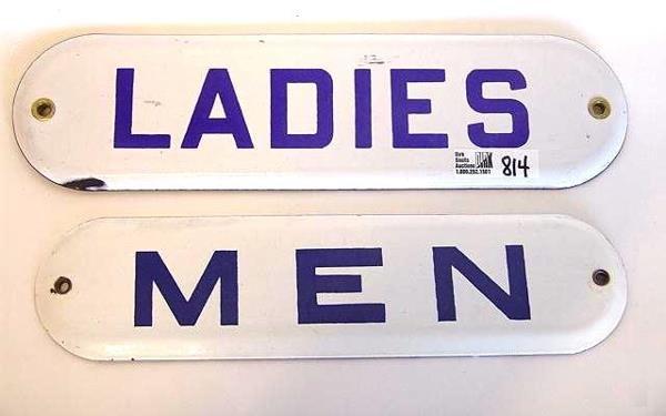 "814: ""LADIES"" AND ""MEN"" PORCELAIN SIGNS"