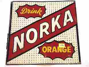 NORKA ORANGE SODA POP TIN SIGN