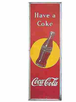 1948 SELF-FRAMED COCA-COLA TIN SIGN