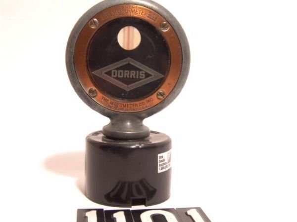 1101: ANTIQUE AUTO MOTOMETER BY BOYCE FOR: DORRIS