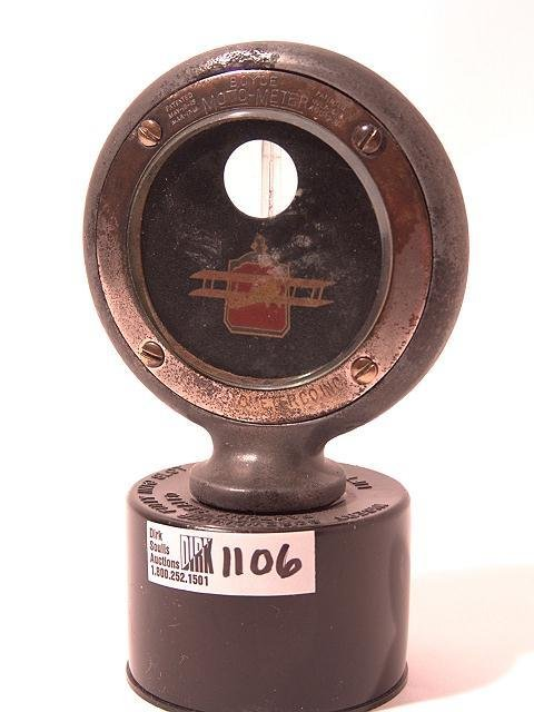 1106: ANTIQUE AUTO MOTOMETER BY BOYCE FOR PACKARD