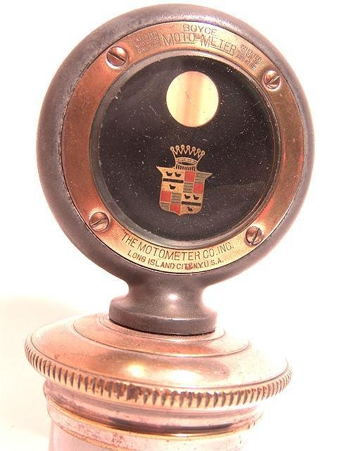 1107: ANTIQUE AUTO MOTOMETER BY BOYCE FOR: CADILLAC