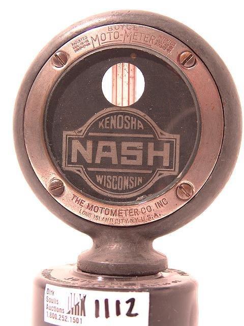 1112: ANTIQUE AUTO MOTOMETER BY BOYCE FOR: NASH, KENOSH
