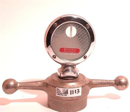 1113: ANTIQUE AUTO MOTOMETER BY MESSKO, GERMANY