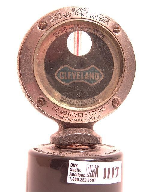 1117: ANTIQUE AUTO MOTOMETER BY BOYCE FOR: CLEVELAND