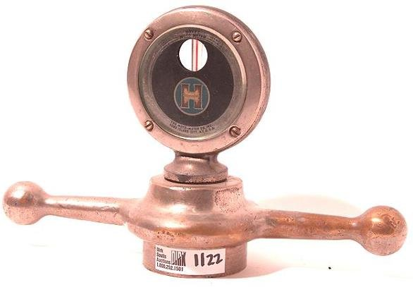 1122: ANTIQUE AUTO MOTOMETER BY BOYCE FOR: HUPMOBILE