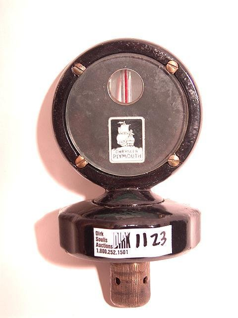 1123: ANTIQUE AUTO MOTOMETER FOR CHRYSLER PLYMOUTH