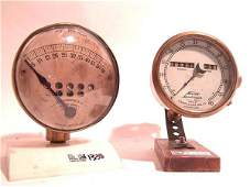1338: TWO EARLY 1900'S AUTOMOBILE BRASS SPEEDOMETERS
