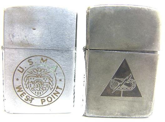 1401: TWO VINTAGE MILITARY ZIPPO LIGHTERS
