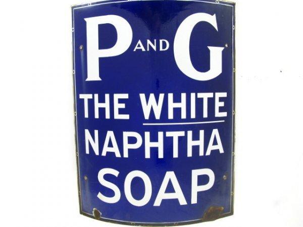 P & G SOAP PORCELAIN CORNER SIGN