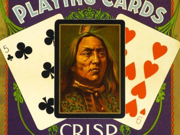 C. 1900 CONGRESS PLAYING CARDS ADVERTISING PLACARD