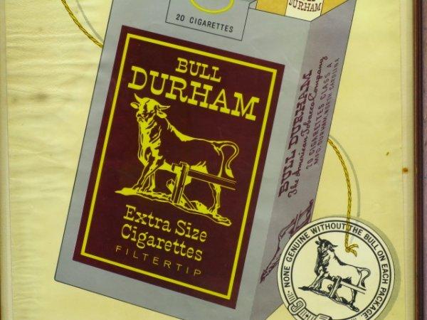 BULL DURHAM CIGARETTES PAPER ADVERTISING POSTER