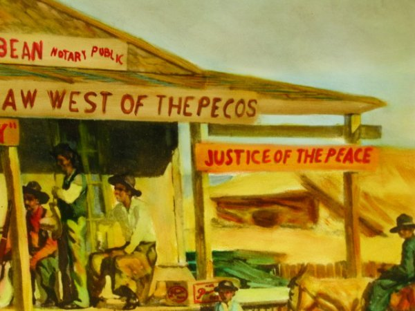1945 PEARL BEER PAPER SIGN WITH JUDGE ROY BEAN - 10