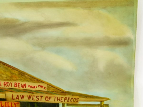 1945 PEARL BEER PAPER SIGN WITH JUDGE ROY BEAN - 5