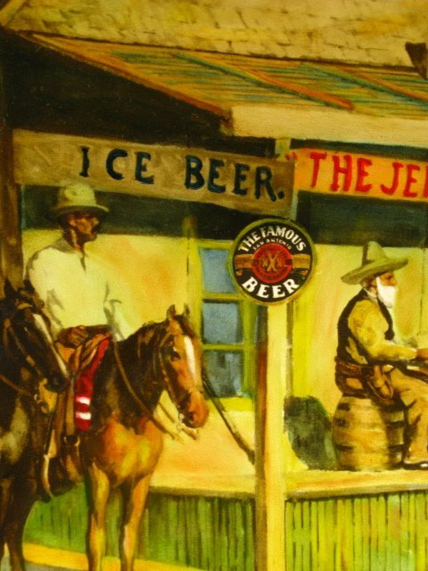 1945 PEARL BEER PAPER SIGN WITH JUDGE ROY BEAN - 8