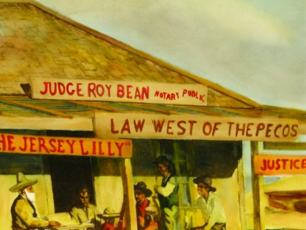 1945 PEARL BEER PAPER SIGN WITH JUDGE ROY BEAN - 9