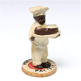 NORTHERN PACIFIC STATUETTE WITH GREAT BIG BAKED POTATO