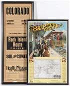 ROCK ISLAND RAILROAD BROADSIDES AS EARLY AS 1891
