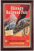 CHICAGO RAILROAD FAIR POSTER, MEMORABILIA 1948 & 1949