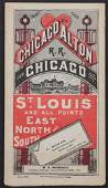 CHICAGO AND ALTON RR TIMETABLE FOR APRIL 1881