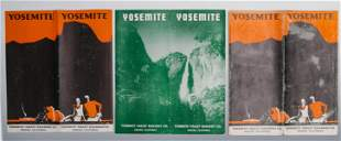 YOSEMITE VALLEY RR BROCHURES (6), ONE DATED 1924