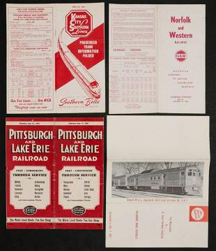A COLLECTION OF RAILROAD TIMETABLES 1883-1965