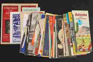 A LARGE COLLECTION OF RAILROAD TIMETABLES AND BROCHURES