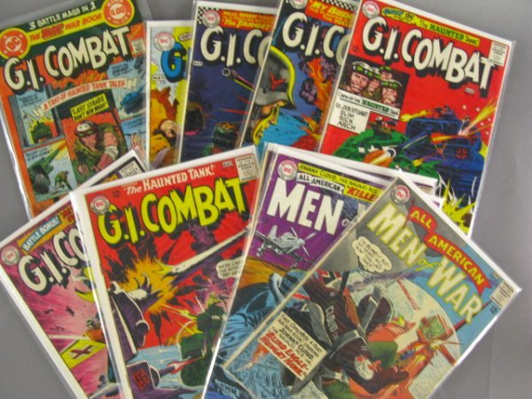 10 DC 12 CENT COMICS MEN OF WAR, GI COMBAT