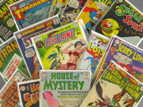 19 DC 10, 12, 15 CENT COMICS JERRY LEWIS, GREEN LANTERN