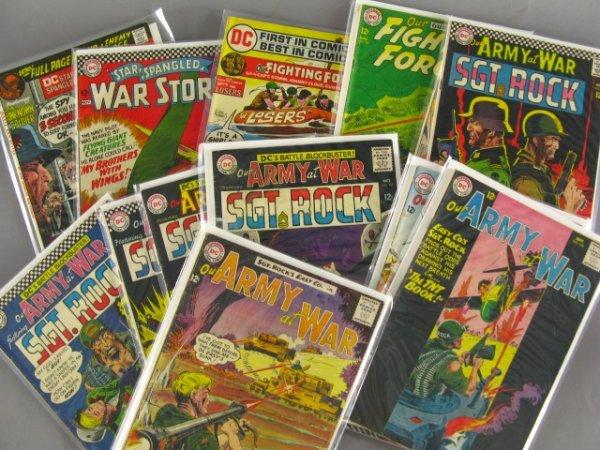13 DC 12 CENT WAR COMICS, OUR ARMY AT WAR