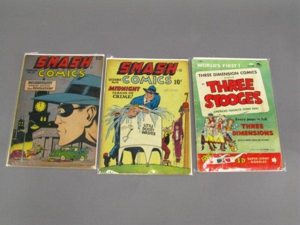 3 SMASH & THREE STOOGES 3-D COMICS