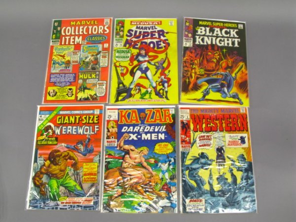 6 MARVEL 25 CENT SUPERHERO COMICS