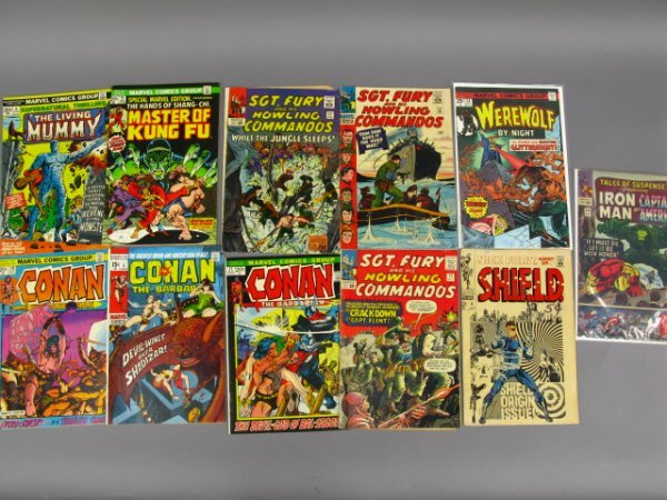 11 MARVEL 12, 15, 20 CENT COMICS WITH CONAN AND MORE