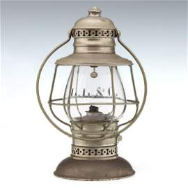 RARE LEAVENWORTH. LAWRENCE & GALVESTON RR LANTERN