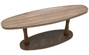 A SURF BOARD FORM FORMICA TABLE FRM SANTA FE RR CAR