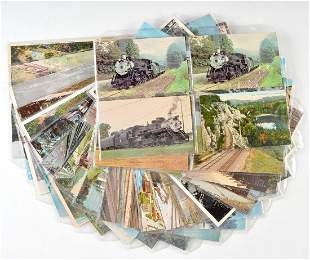 RAILROAD POSTCARDS, MID TO LATE 20C WITH SOME RPPC
