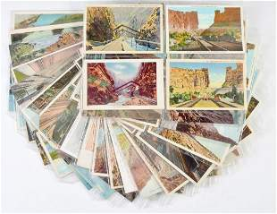 MORE THAN 200 RAILROAD POSTCARDS, D.&R.G.W AND MORE